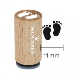 Mini Woodies Stempel - Babyfüsse