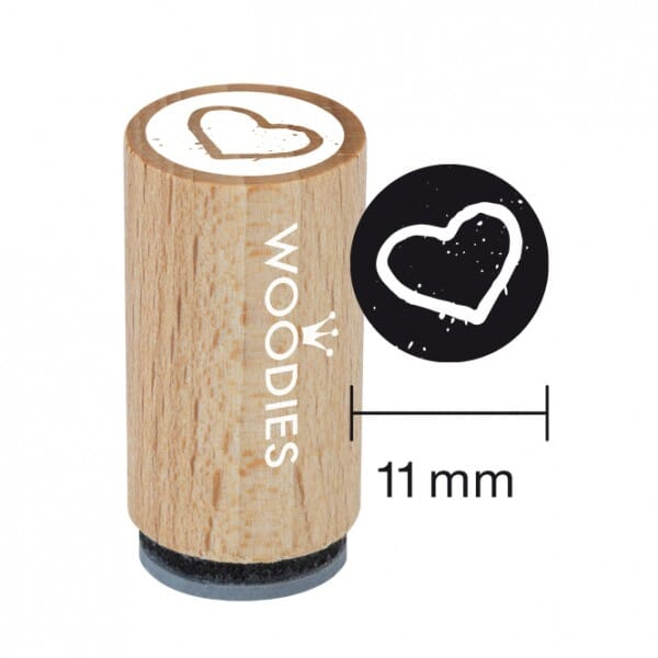 Mini Woodies Stempel - Herz 2