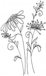 Penny Black Holzstempel - Blumen