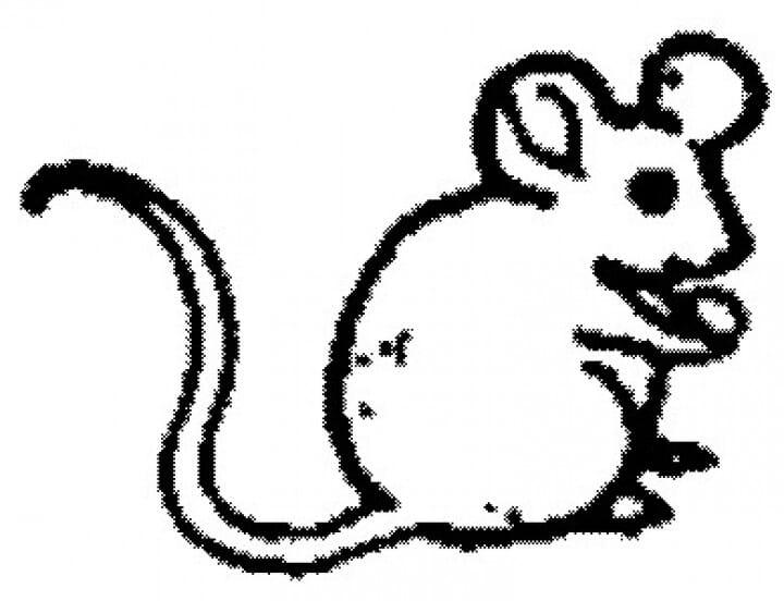 Perma Stempel Holzstempel - Maus
