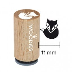 Mini Woodies Stempel - schlauer Fuchs