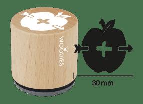 Woodies Stempel - Apfel mit Pfeil