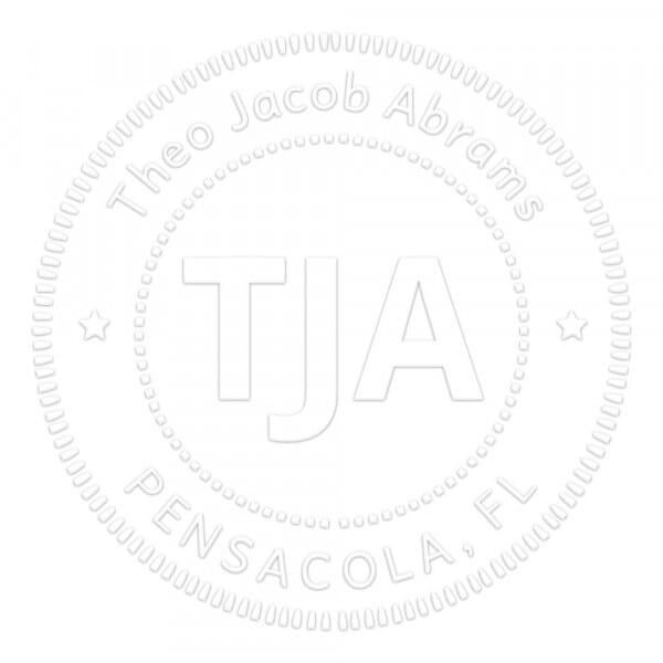 Monogramm-Prägezange rund - Gepunktete Kreise