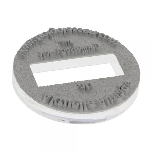 Textplatte für Colop Printer R 45 Dater (Ø 45 mm - 8 Zeilen)