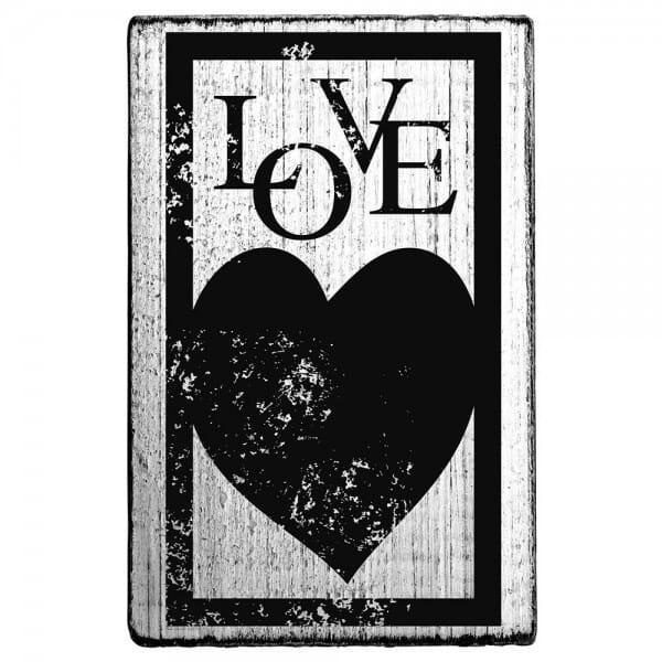 Vintage Stamp LOVE (Herz Rahmen)
