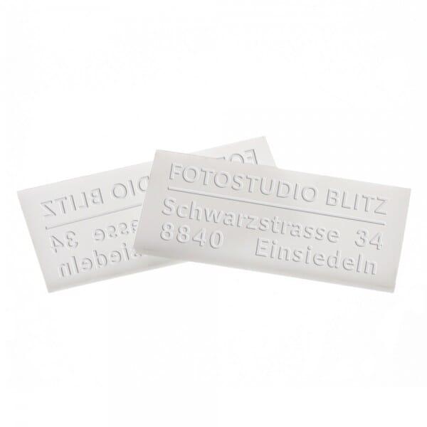 Delrinplatten für Trodat Ideal Prägezangen 25x51 mm