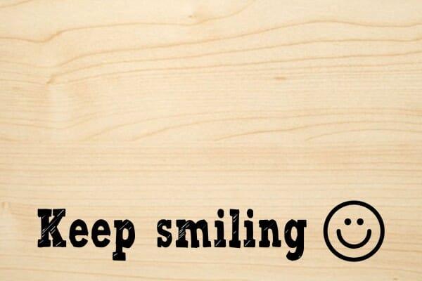 Holzgrusskarte - Sonstige - Keep smiling