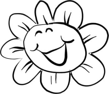 Perma Stempel Holzstempel - Lachende Blume