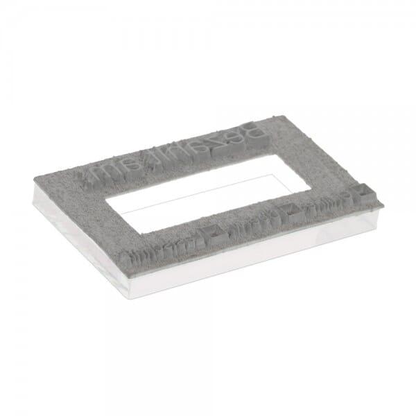 Textplatte für Trodat Printy 4727 - 60 x 40 mm - 3 + 3 Zeilen inkl. Ersatzkissen