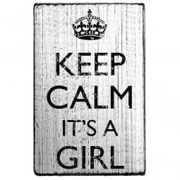 Vintage Stamp Keep calm it's a girl