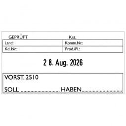 Trodat Printy Datumstempel 4726 - 75 x 38 mm - 3 + 3 Zeilen