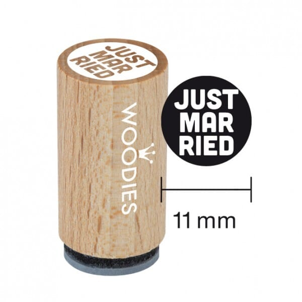 Mini Woodies Stempel - Just married 2