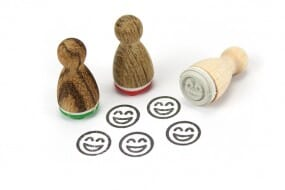 Stemplino Ministempel Happy Smiley