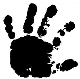 Perma Stempel Holzstempel - Baby Hand, links