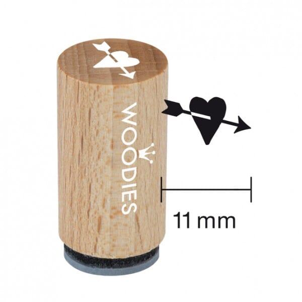Mini Woodies Stempel - Herz mit Pfeil