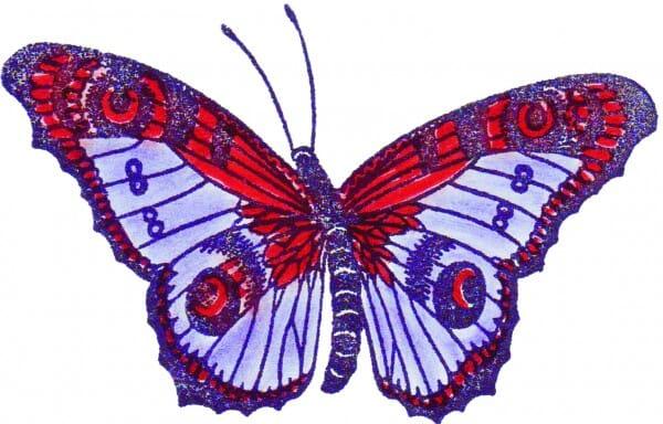 Perma Stempel Holzstempel - Schmetterling (Design 2)