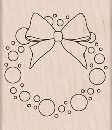 Hero Arts Holzstempel - Color a wreath