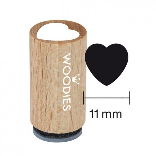 Mini Woodies Stempel - Herz 1