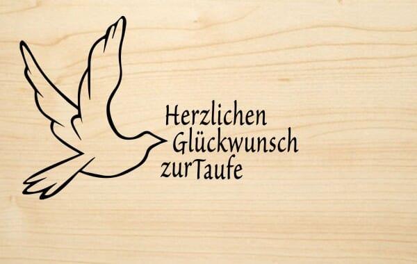 Holzgrusskarte Taufe Herzlichen Glückwunsch Zur Taufe