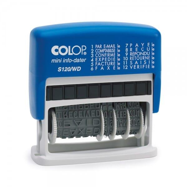 Colop Mini-Info-Dater S 120/WD (41x4 mm - 12 Texte) Französisch