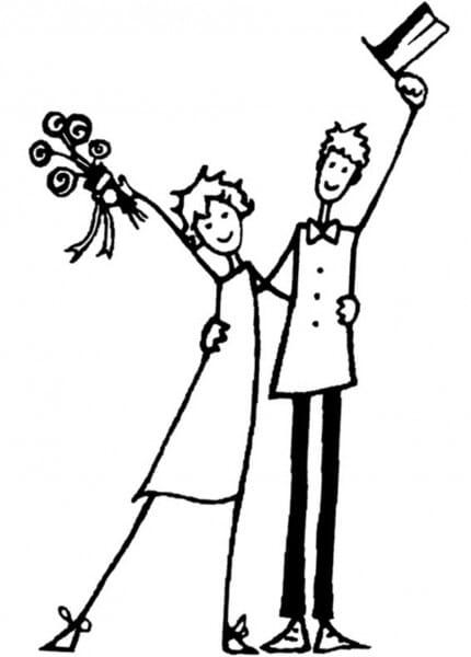 ALADINE Holzstempel - Brautpaar