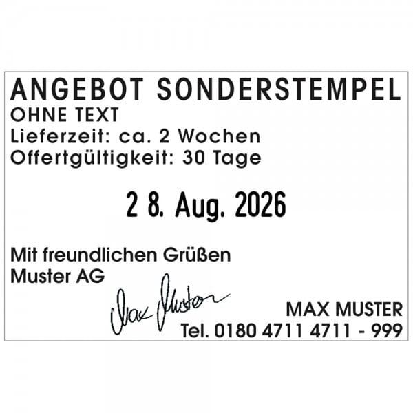 Trodat Printy Datumstempel 4727 - 60 x 40 mm - 3 + 3 Zeilen