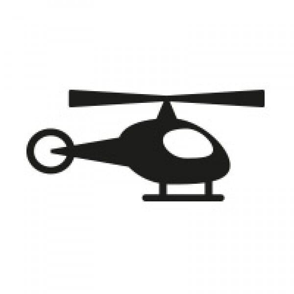 Stemplino Ministempel Hubschrauber