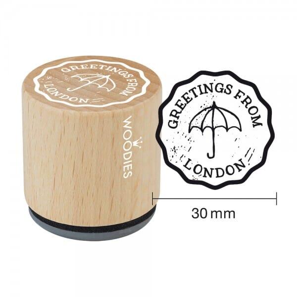 Woodies Stempel - Greetings (Umbrella)