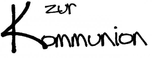 Perma Stempel Holzstempel - Zur Kommunion