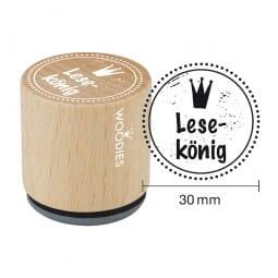 Woodies Stempel - Lesekönig