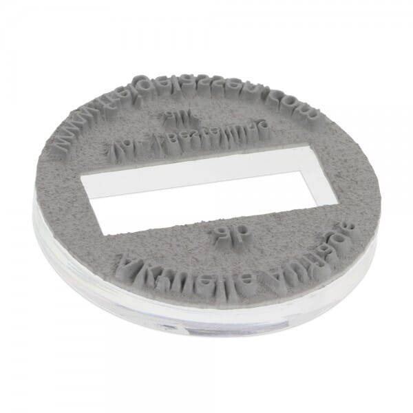 Textplatte für Trodat Professional 54140 - Dm. 40 mm - 3 + 3 Zeilen inkl. Ersatzkissen