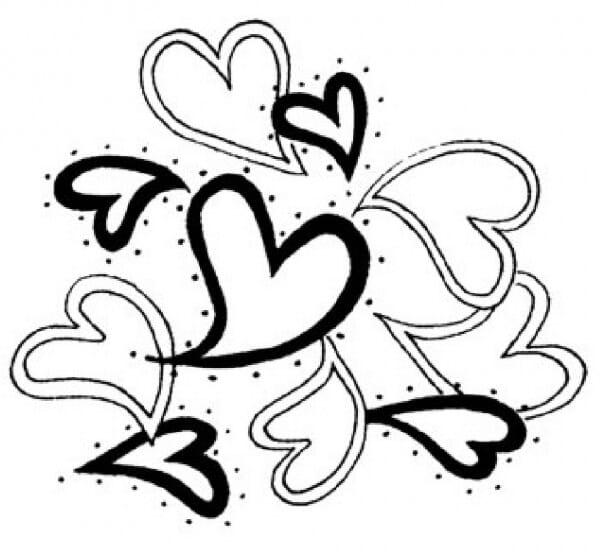 Penny Black Holzstempel - Verschiedene Herzen