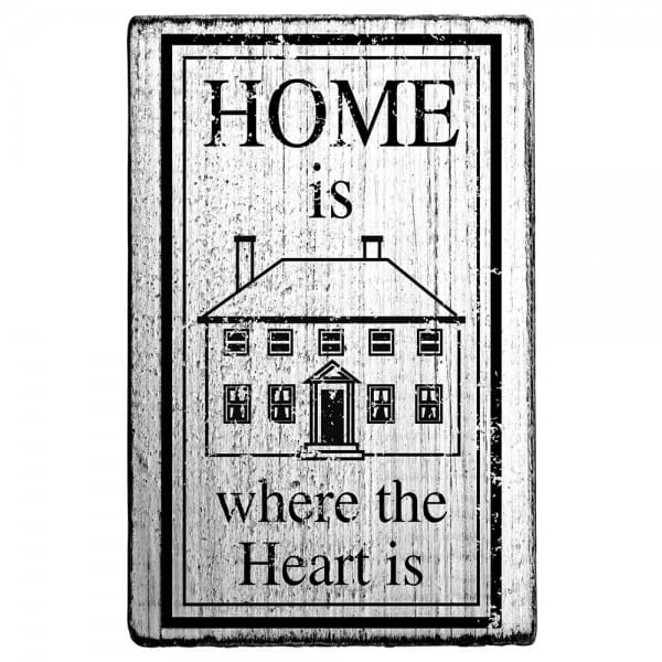Vintage Stamp Home is where the heart is