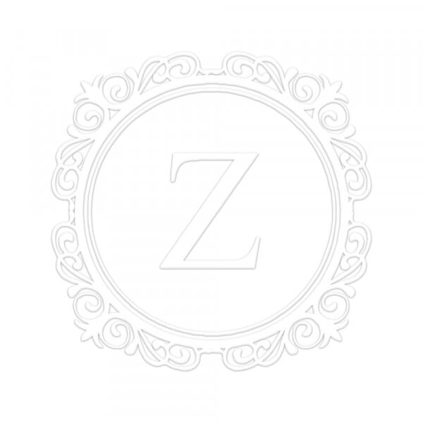 Monogramm-Prägezange rund - Eleganter Kreis