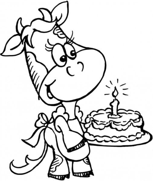 Stampendous Holzstempel - Kuh mit Kuchen