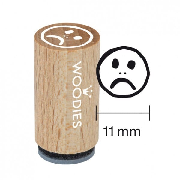 Mini Woodies Stempel - Smiley SCHLECHT