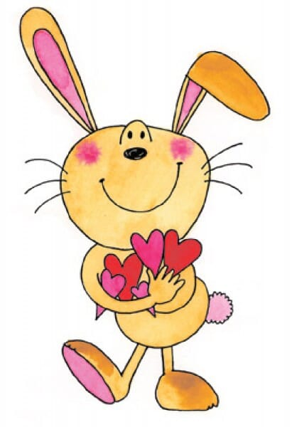 Penny Black Holzstempel - Hase mit Herzen