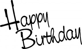 Perma Stempel Holzstempel - Happy Birthday (Design 2)
