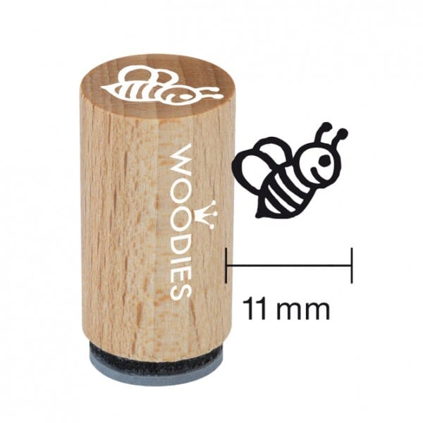 Mini Woodies Stempel - Biene