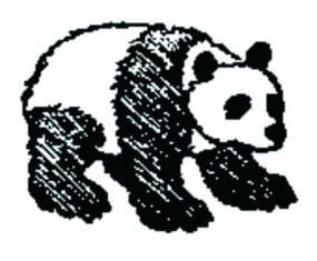 Perma Stempel Holzstempel - Pandabär