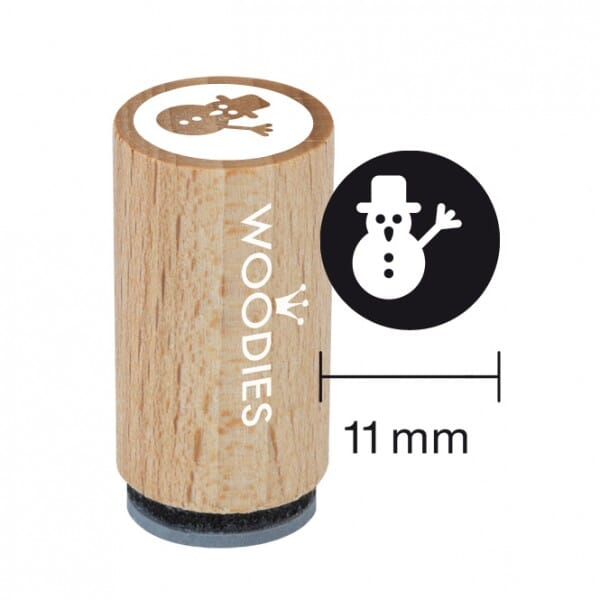 Mini Woodies Stempel - Schneemann