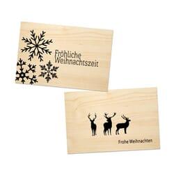 Holzgruss Weihnachten