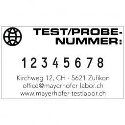 Trodat Professional 5558/PL Ziffernstempel - 8 Bänder - 2 + 2 Zeilen