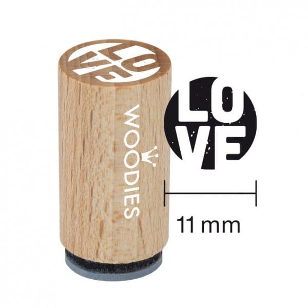 Mini Woodies Stempel - Love
