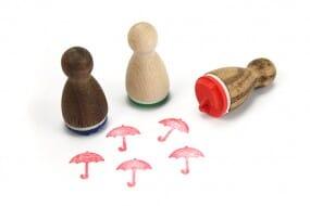 Stemplino Ministempel Regenschirm