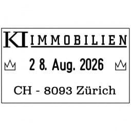 Trodat Professional 5430 Datumstempel - 41 x 24 mm - 1 + 1 Zeile