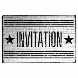 Vintage Stamp Invitation (Sterne)