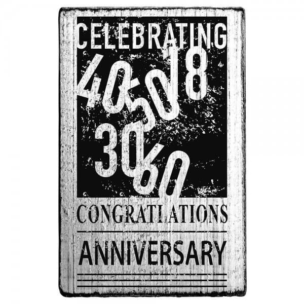 Vintage Stamp Celbrating 40/50 Congratulations