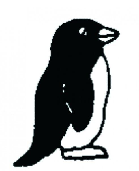 Perma Stempel Holzstempel - Pinguin