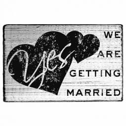 Vintage Stamp We are getting married